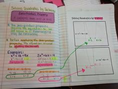Solving Quadratics by Factoring and Graphing INB Pages