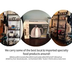 Proud to offer some of the best local and imported food products around. Importance Of Food, Specialty Foods, Kettle, Good Things, Tea, Coffee, Products, Kaffee, Teapot
