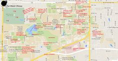 30 Best Judgmental Maps Of College Campuses Images Blue Prints