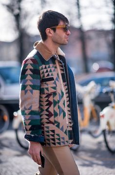 This Valentino Navajo print jacket is the perfect statement jacket for Spring, shop now at Farfetch