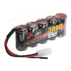 J & Y 6V 3000mAh NiMH Recargable Batería Pack FUTABA Plug para Servo RC Transmitter
