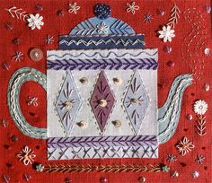 NANCY NICHOLSON: February 2013 Machine Embroidery Quilts, Hand Work Embroidery, Embroidery Applique, Beaded Embroidery, Cross Stitch Embroidery, Embroidery Patterns, Quilt Patterns, Sewing Patterns, Crazy Quilt Stitches