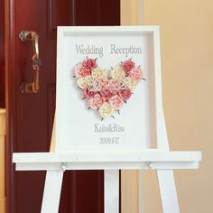 バラで描く2人の愛 ウェルカムボードの手作りキット ピンク