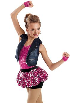 """Weissman Costumes Song: """"I Hate Boys"""" Christina Aguilera Style: Hip Hop Hip Hop Costumes, Cute Dance Costumes, Lyrical Costumes, Dance Outfits, Dance Dresses, Hip Hop Dance, Tap Dance, Latin Dance, Dance Moves"""