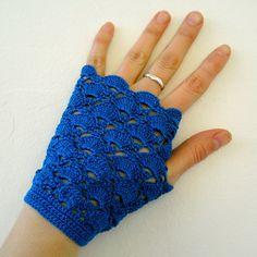 Crochet Short Fingerless Gloves Crochet Arm by MariaKonstantin