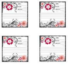 Sweetly Scrapped: {Free} Vintage Feeling Journaling Card With Bird and Flowers