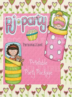SLUMBER Party  **Printables**