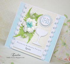 Emilia tworzy: Pierwsza Komunia Święta/Kartka komunijna/Card for Holy Communion Cards, Map, Playing Cards, Maps