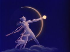 This is on an albumn cover I had as a kid, Disney's Night on Bald Mountain. This is the goddess Diana. One of my all time fav pics!