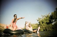 tubing down a river with friends -  my favorite thing to do in the summer=)