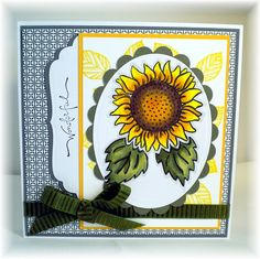 Wonderful Sunflower by tolecookie - Cards and Paper Crafts at Splitcoaststampers