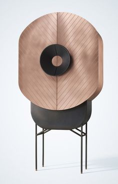 """Seven female designers asked to create metal furniture with """"strong emotional allure"""" // casegood cabinet"""
