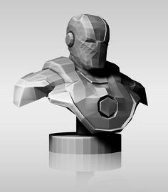 Iron Man-Low poly on Behance
