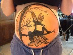 Bellypaint on my Best Friend Got the design from the internet