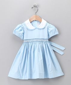 Light Blue Peter Pan Dress - Infant & Toddler | Daily deals for moms, babies and kids