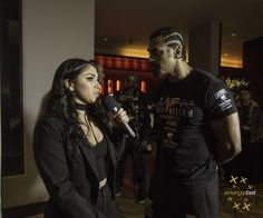Our special reporter Cherelle with Hayemaker #boxing