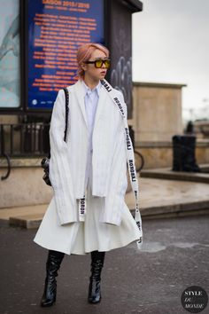 After Sacai Street Style Street Fashion Streetsnaps by STYLEDUMONDE Street Style Fashion Photography   @printedlove