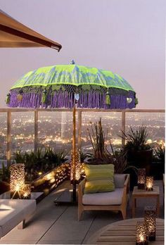 At Oriental Umbrellas we specilise in bringing to the outdoor garden furniture market, unique, individual and colorful designer umbrellas from the far east. Night Garden, Sky Garden, Home And Garden, Garden Parasols, Patio Umbrellas, Outdoor Garden Furniture, Outdoor Decor, Sun Parasol, Roof Terraces