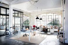 Nancy Meyers, the Intern, office loft, set design, industrial style, modern