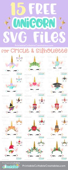 15 Free Unicorn SVG Files for Cricut & Silhouette cutting machines! Unicorn SVG Free Cut files are perfect for scrapbooking, card making, paper crafting, HTV & vinyl crafting with your cutting machine!Informations About 15 Free Unicorn SVG Files for Cricut Monogram, Cricut Fonts, Svg Files For Cricut, Free Svg Fonts, Free Fonts For Cricut, Cricut Invitations, Cricut Vinyl, Christmas Unicorn, Unicorn Face