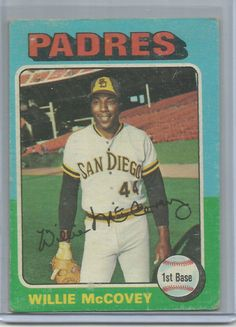 1975 Topps Willie McCovey San Diego Padres #450 Baseball Card