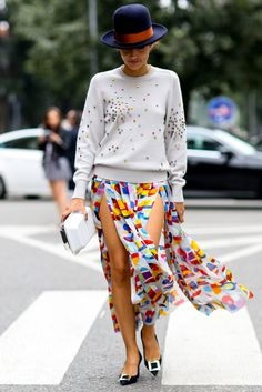 Skirt + Top = Summer's Fail-Safe Formula: 10 simple but sensational combos to inspire easy hot weather-dressing. | styloko.com