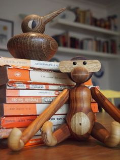 Vedel bird, Bojesen monkey and some penguin classics - what more does a retro mid-century modern interior need?