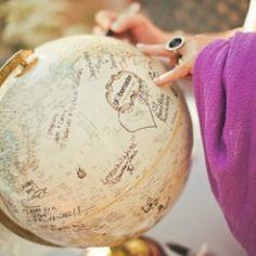 Inspiración: viajes. El globo terraqueo perfecto para mi amiga!