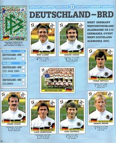 West Germany, with best defence in the tournament! Panini World Cup 1990 - Italia Bodo Illgner, Frankfurt, Fifa, Good Soccer Players, Best Football Team, World Cup, Germany, Cups, Mexico
