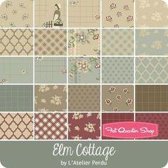 Elm Cottage Half Yard Bundle<BR>L'Atelier Perdu for Windham Fabrics Quilt Stitching, Cross Stitching, Quilting Fabric, Pre Quilted Fabric, Windham Fabrics, Fabulous Fabrics, Fabric Patterns, Patches, Cottage