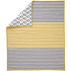 Crib Quilts: Grey and Yellow Chick Crib Quilt | The Land of Nod
