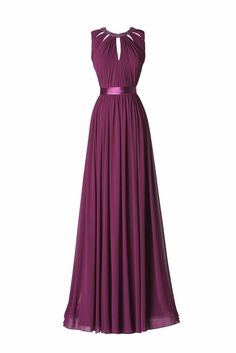 Modello Albahaca - Abito in viola lungo con cintura in vita. Lovely Dresses, Beautiful Gowns, Elegant Dresses, Bridesmaid Dresses, Prom Dresses, Formal Dresses, Chic Dress, Dress Up, Dress Outfits