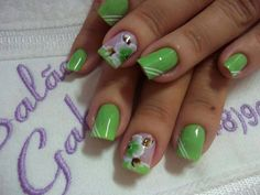 Looking for new nail art ideas for your short nails recently? These are awesome designs you can realistically accomplish–or at least ideas you can modify for your own nails! Fingernail Designs, Nail Polish Designs, Acrylic Nail Designs, Nail Art Designs, Nails Design, Acrylic Nails, Pedicure Designs, Great Nails, Fabulous Nails