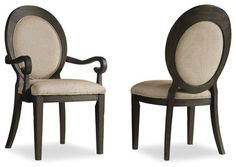 Hooker Furniture Set of 2 Corsica Oval Back Side Chair 5280-75412 - transitional - Chairs - Benjamin Rugs and Furniture