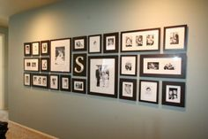 Wall of photo frames!