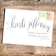 envelope calligraphy | Ezer Calligraphy