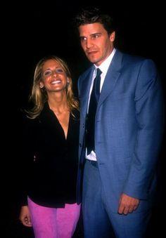 Sarah Prince - With David Boreanaz At WB Event