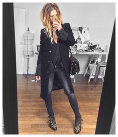 "3,459 mentions J'aime, 51 commentaires - Mélanie Delhaye (@meleponym) sur Instagram: ""Tout miser sur les accessoires✔ Manteau (old) #andotherstories pull #knitbyme jean #aninebing (old)…"""