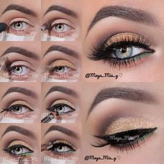 Gold,Green and Brown Pictorial tutorial...Great for New Year's eve