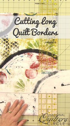 Cutting long quilt borders that are perfectly straight can be difficult. Heather Thomas shows you her technique for folding and cutting borders that come out perfect every time with no waves, 'elbows' or any other issues. History Of Quilting, Quilting Tips, Quilting Tutorials, Hand Quilting, Machine Quilting, Quilting Projects, Quilting Designs, Sewing Projects, Diy Necktie Projects