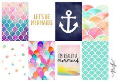 Mermaids Full Box Planner Stickers, Happy Planner Stickers, Erin Condren…