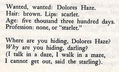 from Lolita, by Vladimir Nabokov