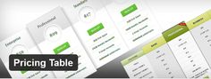 Best Free and Premium WordPress Pricing Tables Plugins for 2013 that you can have on your site to promote your services and products.