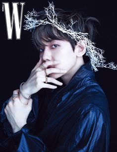 """""""baekhyun (exo) for w korea may 2020 - featuring both valentino and alexander mcqueen spring 2020 menswear collections. the cover has already become the magazine's best-selling issue ever in less than 24 hours with over copies sold. Baekhyun Chanyeol, K Pop, Luhan And Kris, W Korea, Fandom, Kim Minseok, Exo Korean, Stay Happy, Exo Members"""