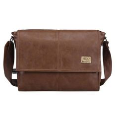 The Architect - Leather Portfolio Briefcase Messenger Bag for Men from Manly Packs for $55