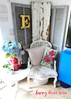 vintage shutters Miss You All, I Got You, Vintage Shutters, Pack Up And Go, Moving Furniture, A Little Party, Family Support, Eclectic Living Room, Happy Love