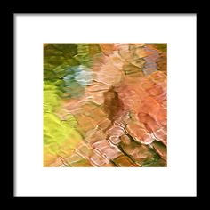 Coral Mosaic Abstract Square Framed Print by Christina Rollo.  All framed prints are professionally printed, framed, assembled, and shipped within 3 - 4 business days and delivered ready-to-hang on your wall. Choose from multiple print sizes and hundreds of frame and mat options.