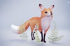 ArtStation - Foxes, Maylee Mouse