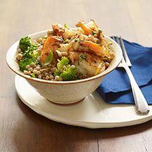 Lemon-Garlic Shrimp with Couscous and Broccoli