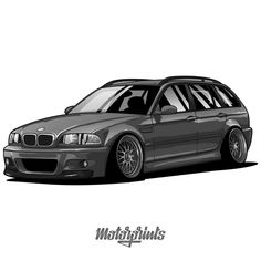 Order illustration of your car! Write me in Direct Message or email. Bmw Touring Bike, E46 Touring, Bike Bmw, E46 330, Tuning Bmw, Carros Bmw, Car Iphone Wallpaper, Cool Car Drawings, Bmw Wagon